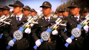 青岛三利集团在本厂订购庆典军训道具