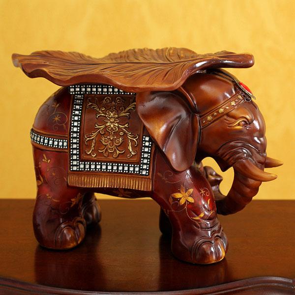 欧式摆件大象凳子仿红木贴花高档家居摆件
