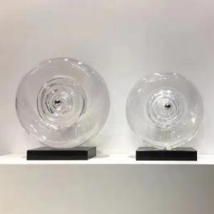 高透明眼球水晶工艺品内嵌钢珠透明水晶树脂摆件