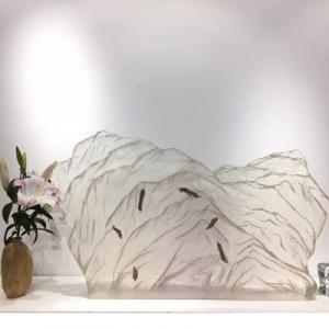 定制大型透明内嵌透明树脂水晶工艺品家居摆件礼品