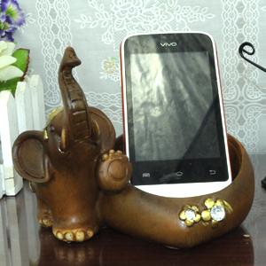 树脂工艺品手机座手机支架大象造型【吉祥如意】