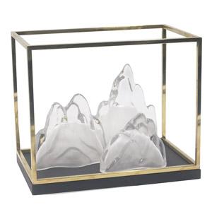 透明树脂工艺品内嵌假山现代客厅家居饰品摆件
